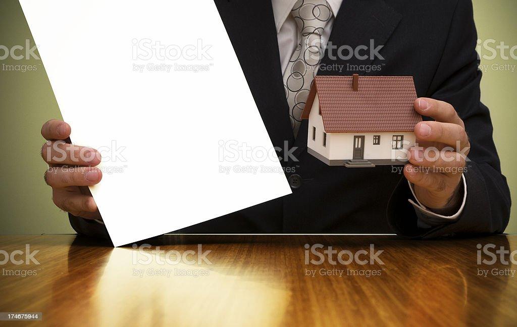 Blank advertisement board royalty-free stock photo