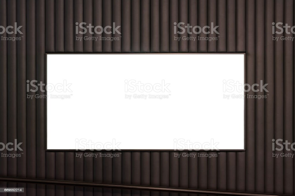 Blank Advertisement Hotel Entrance White Isolated Clipping Path stock photo