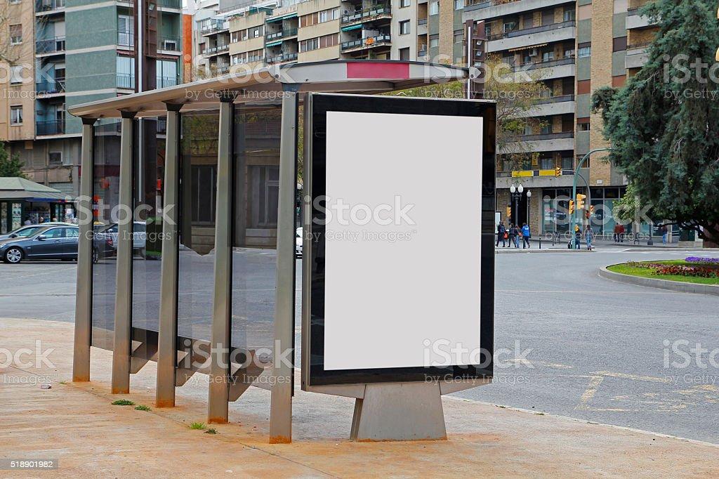 Vide de publicité dans un arrêt de bus - Photo