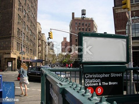 istock Blank Advertisement in NYC 173637446