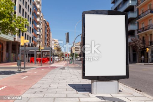 istock Blank advertisement mock up 1026709338