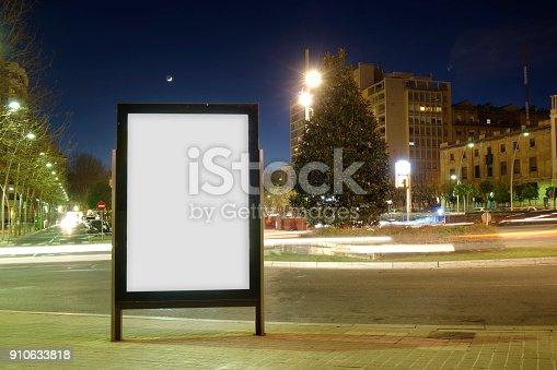 1036904778istockphoto Blank advertisement mock up 910633818