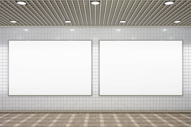 blank advertisement poster - two objects stock photos and pictures