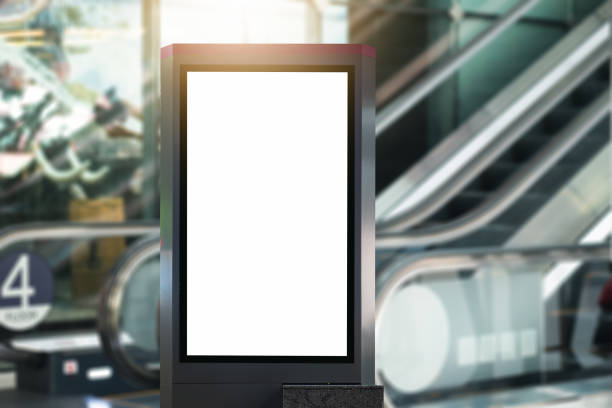 blank advertising billboard at airport. blank advertising billboard at airport. underground stock pictures, royalty-free photos & images