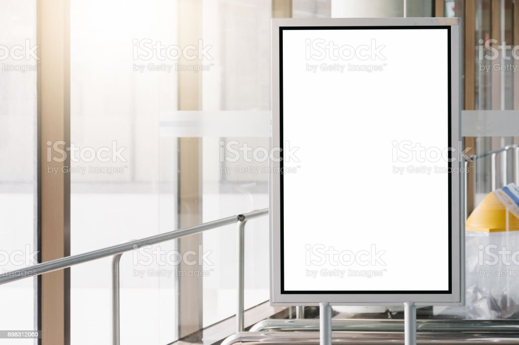 blank advertising billboard at airport. blank advertising billboard at airport. Advertisement Stock Photo