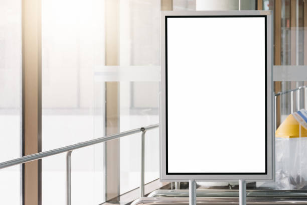blank advertising billboard at airport. - disdainful stock pictures, royalty-free photos & images