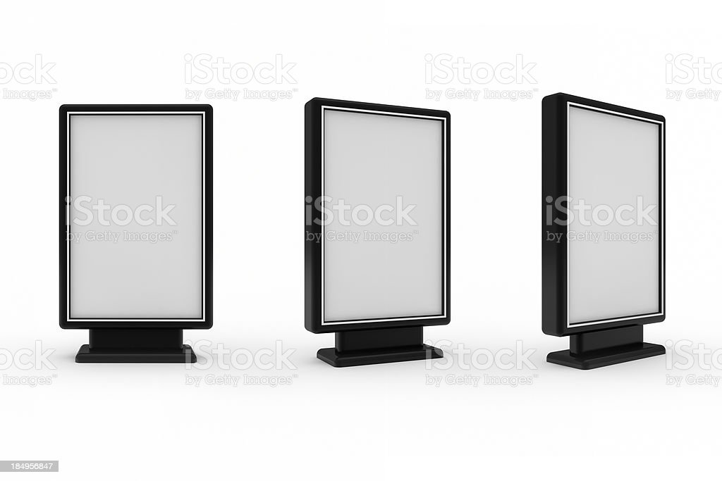 Blank advertising billboard isolated on white background royalty-free stock photo