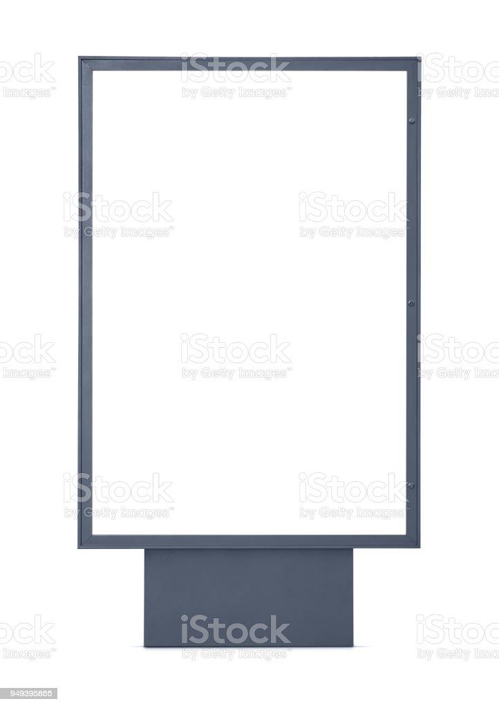 Leere Werbung Plakat isoliert auf weißem Hintergrund – Foto