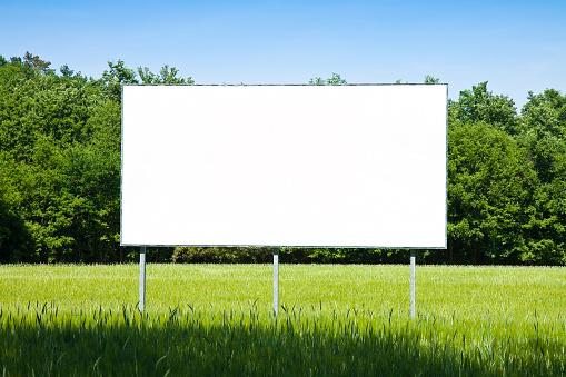 istock Blank advertising billboard 501115770