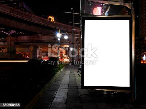 istock Blank advertising billboard 639698468