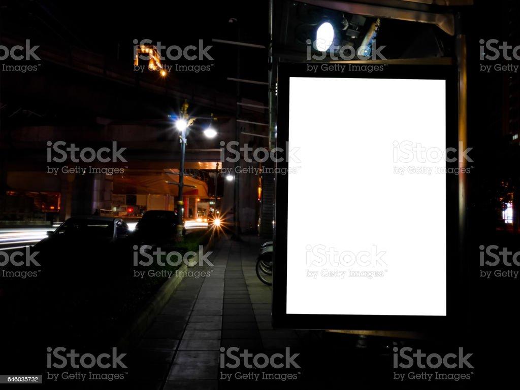 Blank advertising billboard stock photo