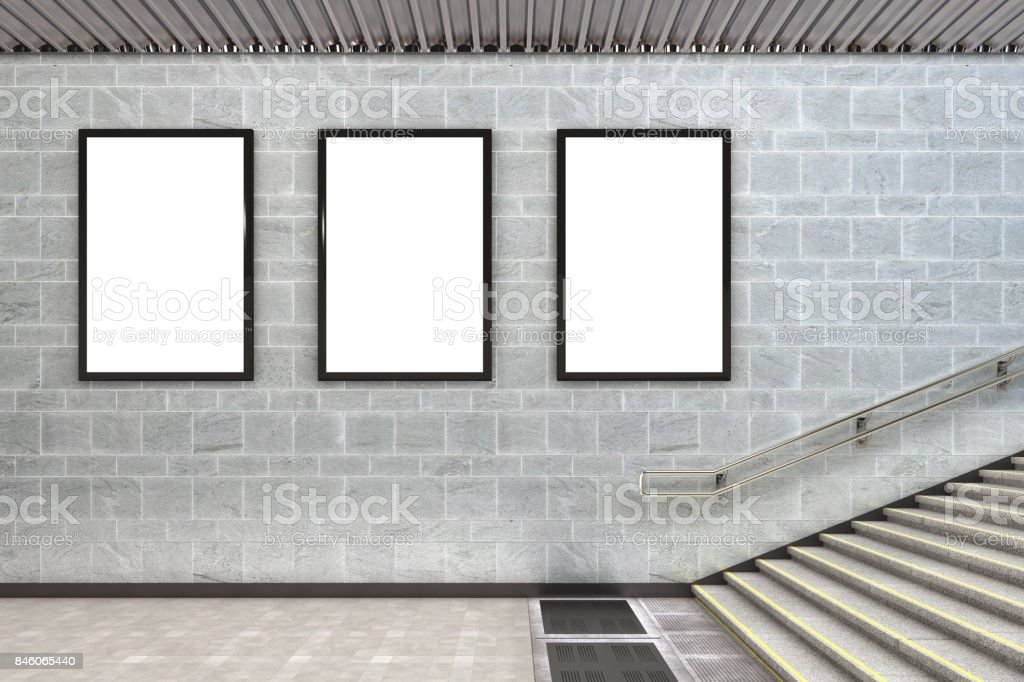 Blank advertising billboard poster stock photo