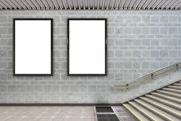 cartaz de outdoor de publicidade em branco - dois objetos - fotografias e filmes do acervo