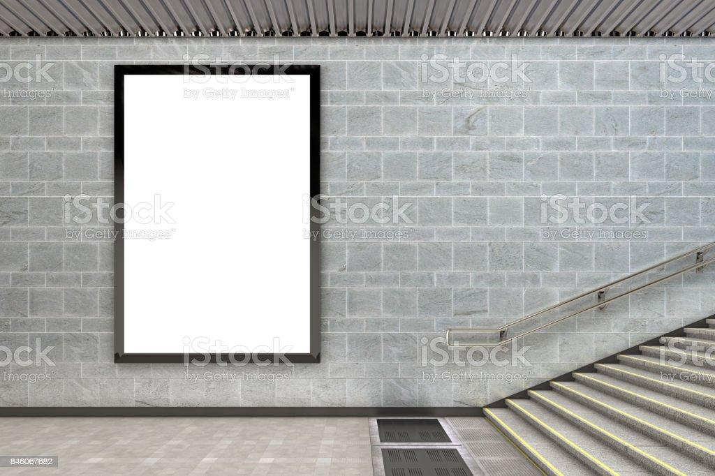 Blank advertising billboard poster royalty-free stock photo