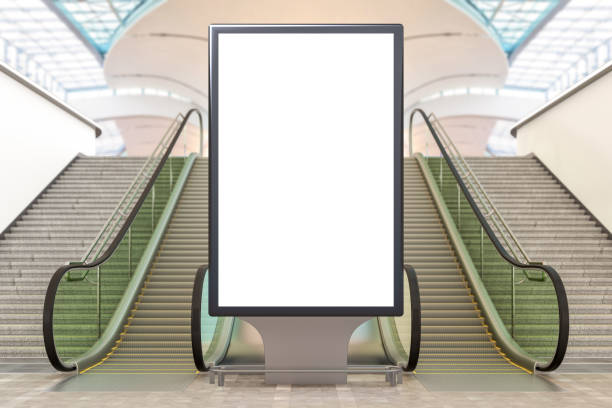 Blank advertising billboard stand - foto stock