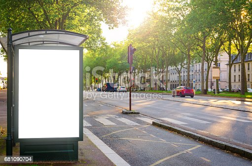 istock Blank advertising board or billboard with copy space 681090704