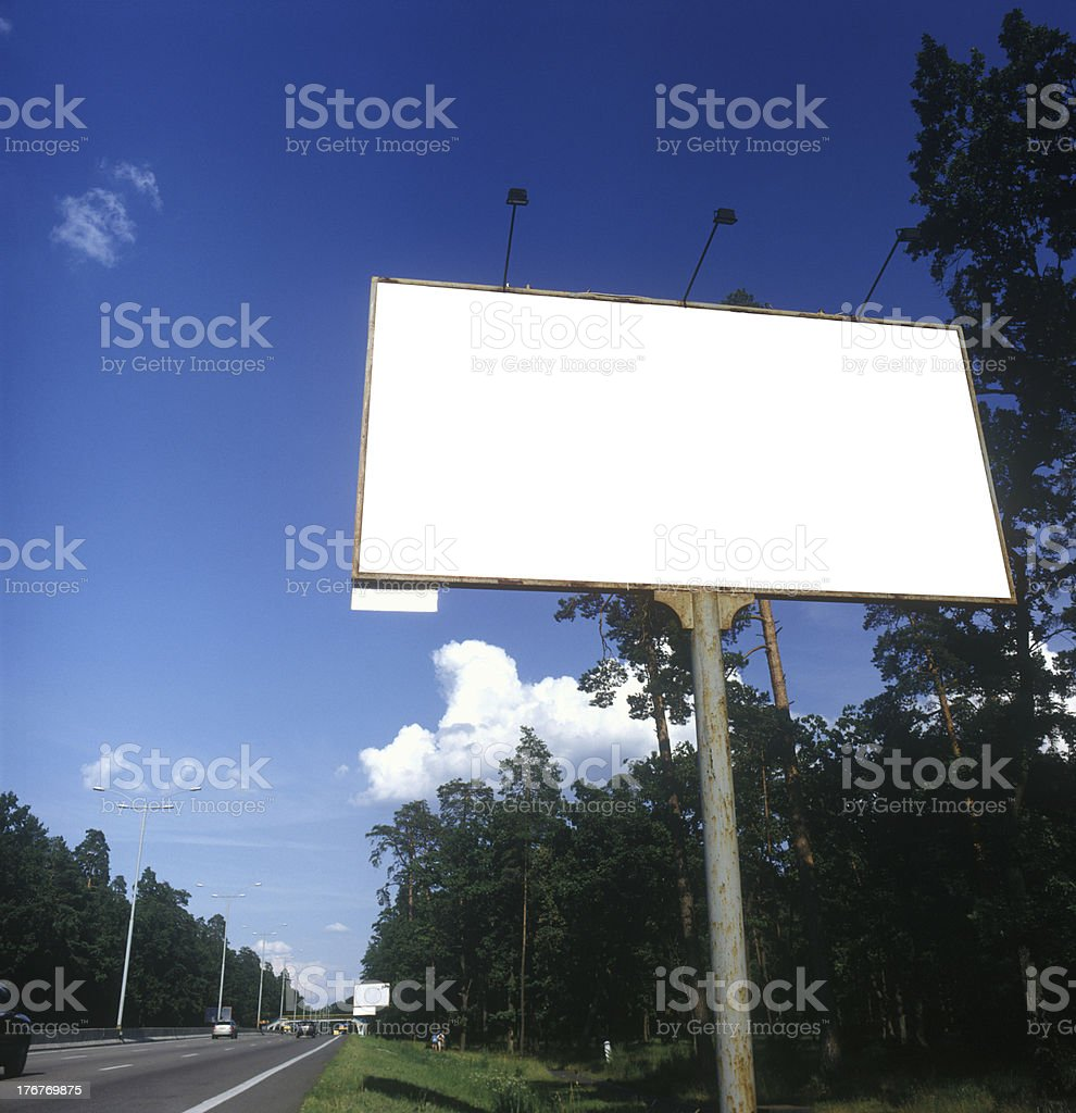 Blank advertising board. royalty-free stock photo