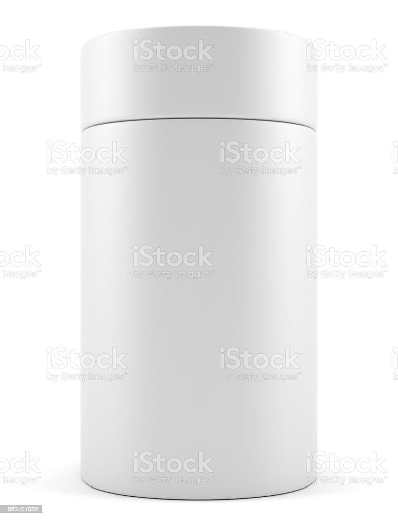 Blank advertising cylinder stock photo