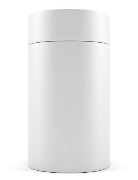 Blank advertising cylinder stock photo