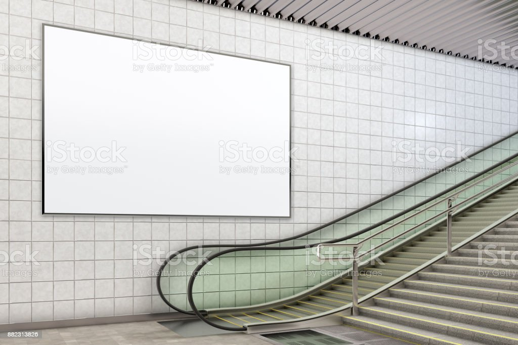 Blank Advertising Poster Mockup Stock Photo Download Image Now