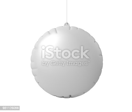 istock Blank Advertising PVC Inflatable Promotional Dangler And Hanging Air Balloon For Design Presentation. 3d Render Illustration. 931126056