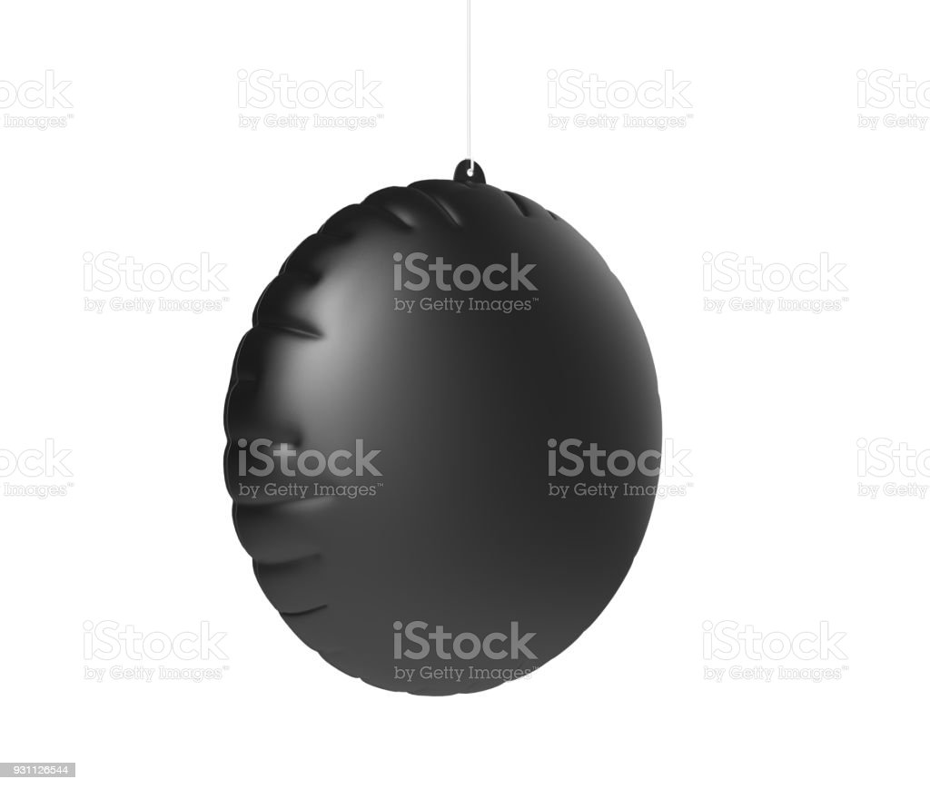 Blank Advertising PVC Inflatable Promotional Dangler And Hanging Air Balloon For Design Presentation. 3d Render Illustration. stock photo