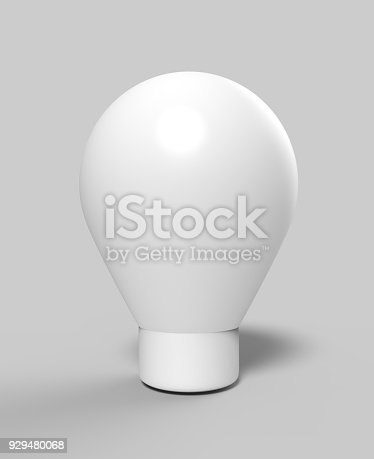 istock Blank Advertising PVC Inflatable shaped ground Balloon. 3d render illustration. 929480068