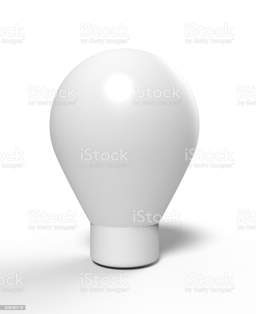 Blank Advertising PVC Inflatable shaped ground Balloon. 3d render illustration. stock photo