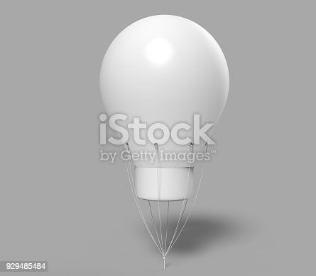 istock Blank Advertising PVC Inflatable shaped Helium  Balloon. 3d render illustration. 929485484