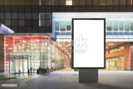 istock Blank advertising stand 655593654