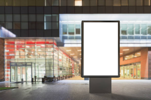 blank advertising stand - ad template stock photos and pictures