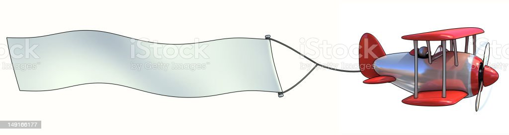 Blank aerial advertisement royalty-free stock photo