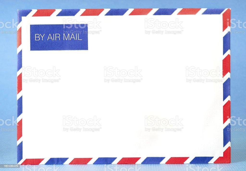 Blank Airmail Envelope royalty-free stock photo