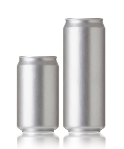 Blank aluminum cans, Realistic photo image stock photo