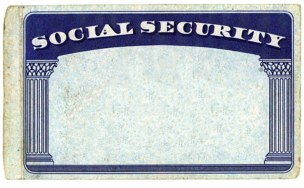 Blank American Social Security Card stock photo