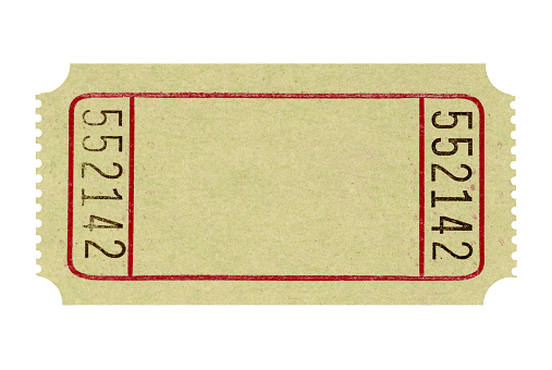 Blank and unused admission ticket to a fair