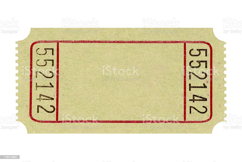 Blank and unused admission ticket to a fair  stock photo