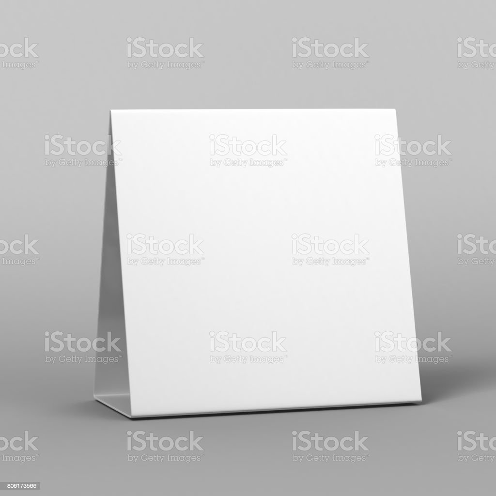 Blank and White Promotional Table Talkers and Table Tent 3d Mock up rendering. - Stock image . & Blank And White Promotional Table Talkers And Table Tent 3d Mock Up ...