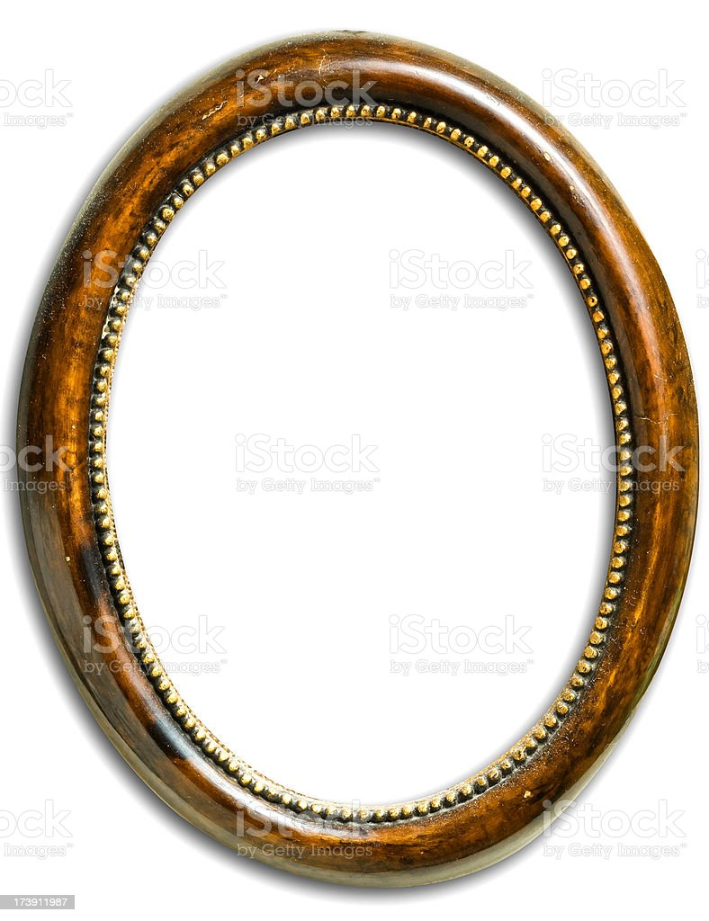 Blank antique frame royalty-free stock photo