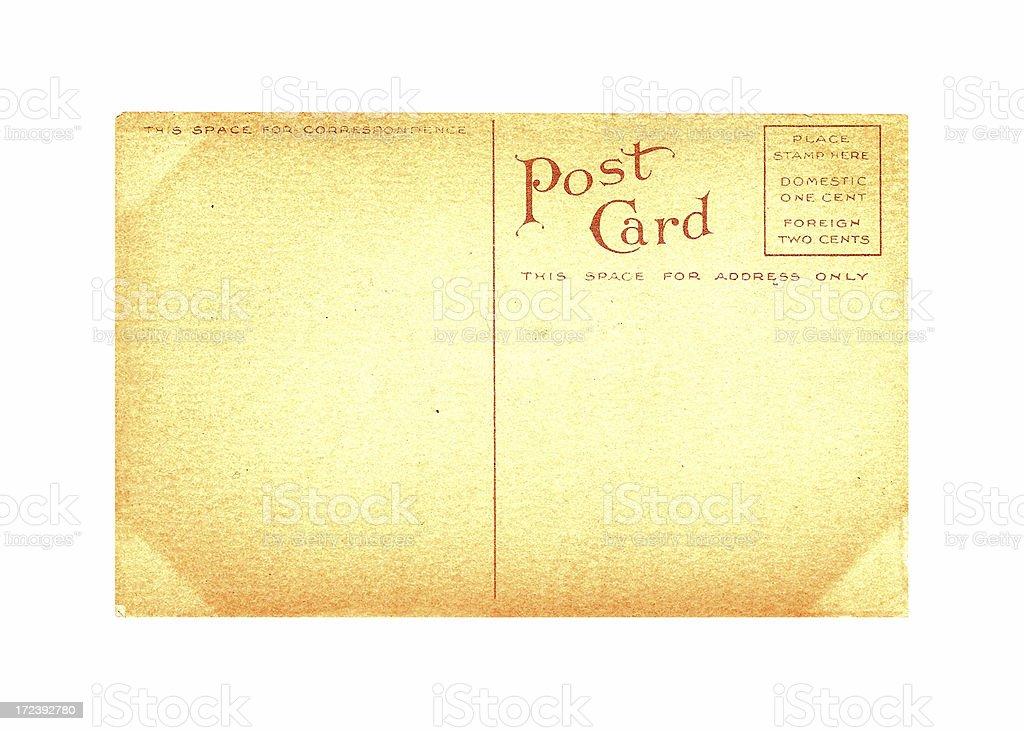 Blank Antique Postcard royalty-free stock photo