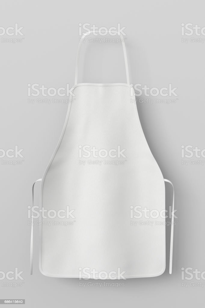 Blank apron isolated stock photo