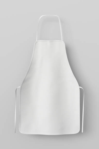 Delantal en blanco aislado - foto de stock