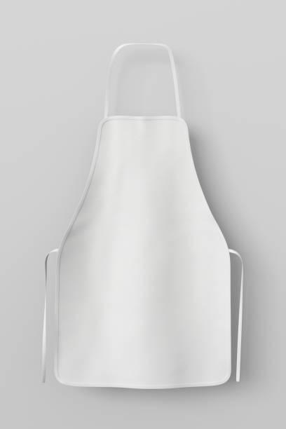 Blank apron isolated stock photo