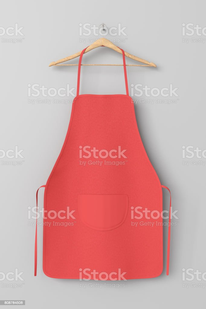 Blank apron with pocket stock photo