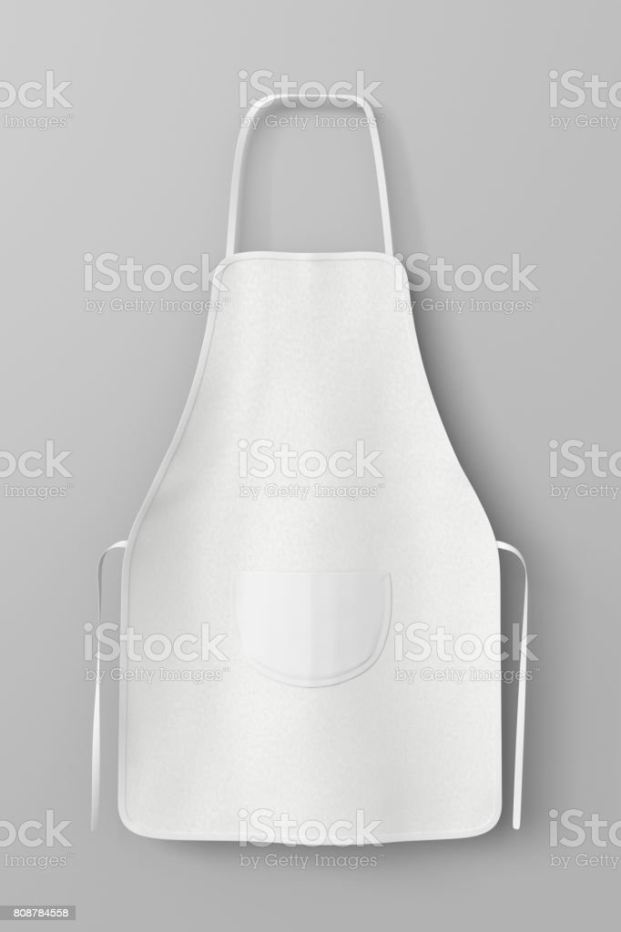 Blanco delantal con bolsillo - foto de stock