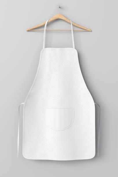 Blanco delantal con bolsillo - foto de stock