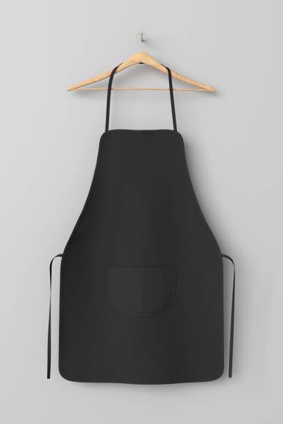 Blank apron with pocket stock photo