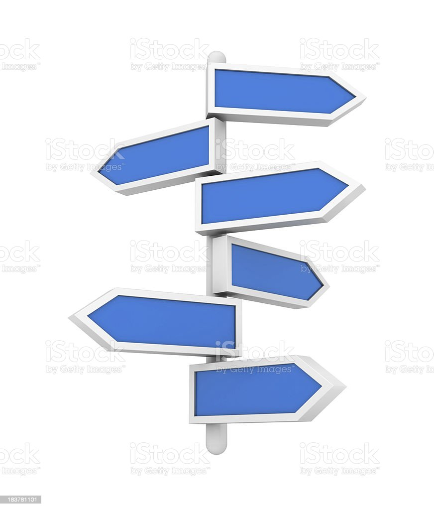 Blank Arrows Sign royalty-free stock photo