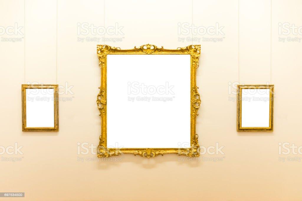 Photo Libre De Droit De Musée Dart Blank Isolé Cadre Peinture Décoration Intérieur Mural Modèle Blanc Banque D Images Et Plus D Images Libres De Droit