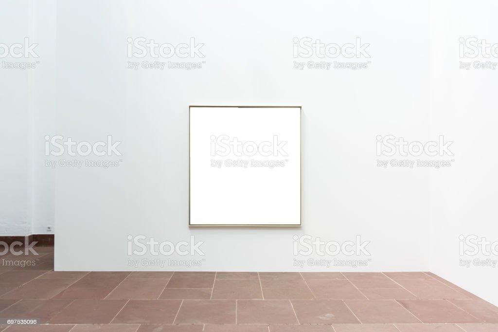 Blankkunstmuseum Isoliert Gemälde Rahmen Innen Dekoration Wand Weiße ...